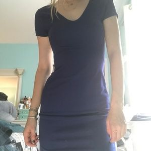 French Connection Blue Body Con Dress